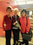 Sandra, Jo & Youmie after their first chamber music performance